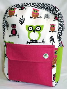 Your little designer will love putting her own spin on camping gear with a customized backpack from Forever Frogs.