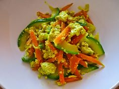 Hemp tofu with veg