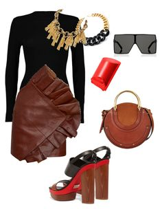 """""""Untitled #359"""" by stylistrr on Polyvore featuring Boohoo, Yves Saint Laurent, Michael Kors, Chloé, Karl Lagerfeld and Bobbi Brown Cosmetics"""