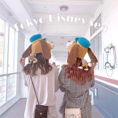 Korean Girlfriend, Cute Bunny Cartoon, Bff Girls, Korean Best Friends, Best Friends Aesthetic, Face L, Poses, Ulzzang Girl, Besties