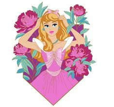 Pretty in Posies LE 50 coming soon 😍 I will be looking to put together a priority group of people that would like to purchase the whole… Arte Disney, Disney Fan Art, Disney Magic, Disney Pixar, Disney Princess Aurora, Princess Art, Sailor Princess, Princess Cartoon, Princess Bubblegum