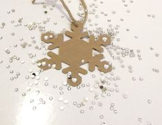 Snowflake Gift Tags Set of 3 by StudioButton on Etsy