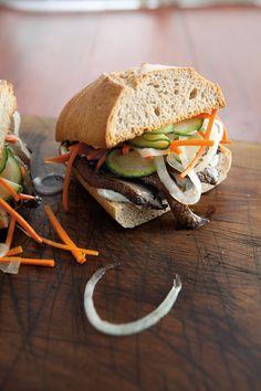 Portobello Mushroom Sandwiches with Pickled Vegetables