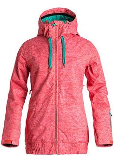 ROXY - Womens Valley Hooded Jacket hcoral texturiz #planetsports #roxy #jacket