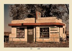 The Old Juarez Diner in Glenrio, Texas. A place long time abandoned, this was the gateway of Route 66 to and from New Mexico.