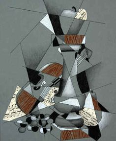 cubism still life drawing 1