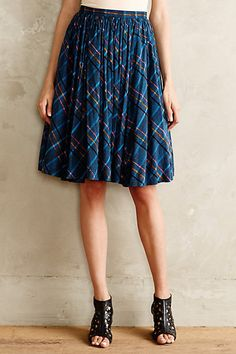 Speckled Plaid Skirt #anthropologie #anthrofave