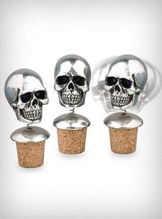 Skully bottle stoppers