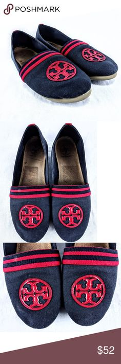 9ab777cd246f Tory Burch Raymond Canvas Slip On Shoes Sz Blue and red Tory Burch Raymond  canvas shoes in a size 8 M Tory Burch Shoes Flats   Loafers