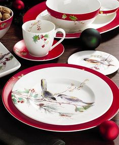 These charming bird plates will add instand whimsy & festive feel to your Christmas table!