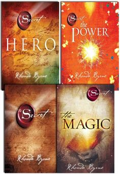 The Secret Series Collection 4 Books Set, written by Rhonda Byrne, It is based on the law of attraction and claims that positive thinking can create life-changing results such as increased wealth, health and happiness. The Secret Book Series, The Book, Uplifting Books, Inspirational Books, Rhonda Byrne Books, The Magic Rhonda Byrne, The Secret Rhonda Byrne, Good Books, My Books