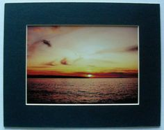 $16.99  Landscape Seaside Ocean Sunset Colour Photograph Untitled BY Unknown Artist | eBay #photography #sunset #ocean