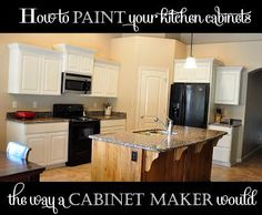 How to paint your kitchen cabinets {professionally} – All Things Thrifty