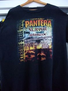 t-shirt 2001 rare vintage Slayer Static-X Skrape Morbid Angel Extreme Steel Tour thrash metal death metal concert by shirtsforeveryone17 on Etsy