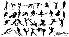 Sports Silhouettes - Free Vector Site | Download Free Vector Art, Graphics