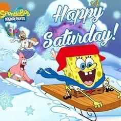 Good Morning Cartoon, Good Morning Sunday Images, Happy Sunday, Cartoon Pics, Cartoon Characters, Spongebob Happy, Happy Saturday Pictures, Sandy Cheeks, Free Cartoons