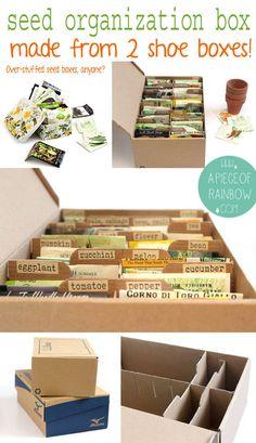 Seed Storage, Diy Storage, Storage Ideas, Makeup Storage, Storage Boxes, Organic Gardening, Gardening Tips, Allotment Gardening, Organic Farming