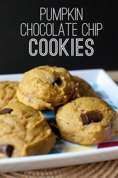 vegan: pumpkin chocolate chip cookies...