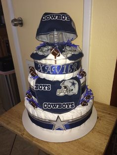Dallas Cowboys Diaper Cake.
