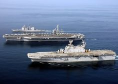 USS DWIGHT D. EISENHOWER   (CVN-69) WITH ESCORTS
