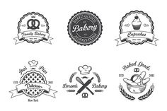 Vintage bakery emblems. Part 2 - Logos - 2