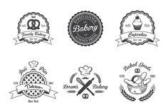 Vintage bakery emblems. Part 2 - Logos - 2