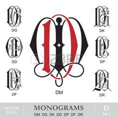 DG llustration of Vintage Monograms DM DG DK DD DP DF DR vector art, clipart and stock vectors. Image 24257594. Monogram Logo, Vintage Monogram, Monogram Design, Monogram Letters, Monogram Initials, Lettering Design, Logo Design, Lettering Ideas, Claddagh Tattoo