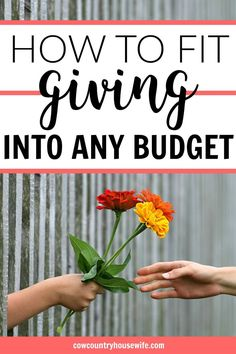You can fit giving into any budget. It's more than just money, too. There are so many things to give other than with money. These are great!
