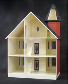 Painted Lady Dollhouse Kit by Real Good Toys | Free Shipping over $225 @ miniatures.com
