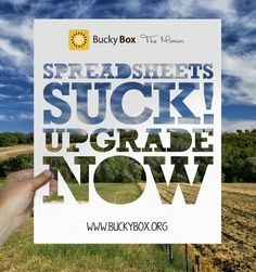 Stories from Local Food heroes [Spreadsheets Suck - Upgrade Now] Local Food Software from Bucky Box Food Distributors, Bucky, Box, Tips, Software, Business, Design, Snare Drum