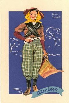Folk Costume, Costumes, Nostalgic Pictures, Portuguese Culture, Arte Popular, Cultural, Old Postcards, Traditional Dresses, Vintage Posters