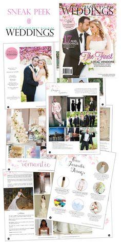 Sneak peek of the debut Spring/Summer 2016 edition of Contemporary Weddings Magazine  @contempweddings