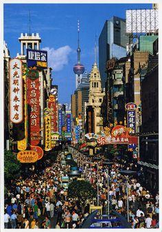 Nanjing Road, Shanghai, China | Li Ni (Evergreen) desde Shan… | Flickr