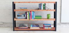 Industriele boekenkast maken | voordemakers.nl