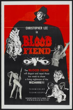 Blood Fiend - The Grindhouse Cinema Database Horror Movie Posters, Movie Poster Art, Horror Films, Film Posters, Horror Art, Punk Poster, New York Pictures, Movie Theater, Theatre