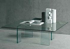Glas Italia Glass Table Modern Coffee Table by Shiro Kuramata | Modern Design