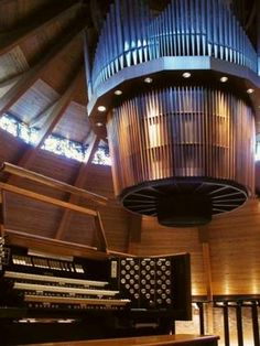It's a fascinating Casavant design with the Swell on the lower level and the rest of the organ on the upper level. Access is via a metal ladder that extends down to the floor.