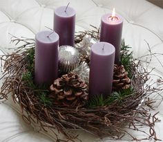 Posts about Holidays written by saralastname Christmas Advent Wreath, Rustic Christmas, Winter Christmas, Christmas Time, Advent Wreaths, Christmas Projects, Christmas Crafts, Advent Candles, Holiday Day