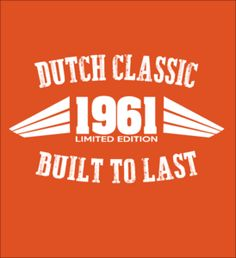 Limited Edition - 1961 Dutch Classic shirts