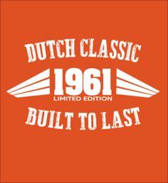 Limited Edition - 1961 Dutch Classic shirts