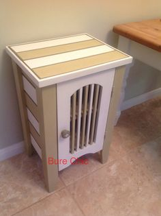 Stripes give this quirky cupboard the edge.  Painted with Annie Sloan chalk paint. Great addition to any room. Bespoke and unique from Bure Chic. £95.00 www.facebook.com/BureChic