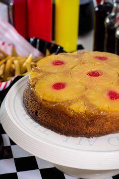 #TescoParty - American Retro Party - - odwracane ciasto z ananasem - upside down cake