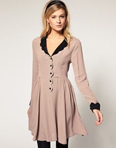 ASOS Collar Dress with Scallop Detail, $80.86.