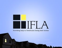 Logo design for the Institute for Foreclosure Legal Assistance (IFLA),  support groups giving legal representation to families facing foreclosure and financial ruin because of abusive subprime mortgages.