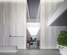 Daishin Securities HQ. Design competition for Daishin Securities new headquarters building in collaboration with B&A Design. Seoul, South Korea #lobby Daniel Valle Architects