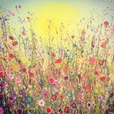 Sparkles of Tenderness 80cmx100cm Oil on Canvas UK Flower Artist Yvonne Coomber #flowerart