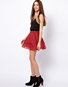 French Connection Pixie Pixels Ra Ra Skirt