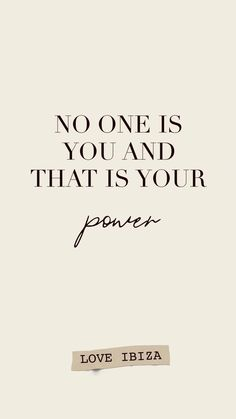 No one is you and that is your power – motivational quote – fashion quotes inspirational Words Quotes, Me Quotes, Motivational Quotes, Funny Quotes, Inspirational Quotes, Quotes Of Motivation, Path Quotes, Diet Motivation, Wisdom Quotes