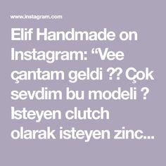 """Elif Handmade on Instagram: """"Vee çantam geldi ❤️ Çok sevdim bu modeli 🥰 İsteyen clutch olarak isteyen zincirli olarak kullanabilir ☺️ Zincirim @desaryou dan 😘…"""" Model, Instagram, Scale Model, Models, Template, Pattern, Mockup, Modeling"""