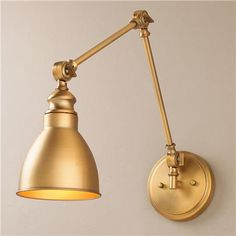 """$118  (17""""Hx5.5""""Wx13-33.75"""" extended). Adjustable Arm 1-Light Wall Sconce"""